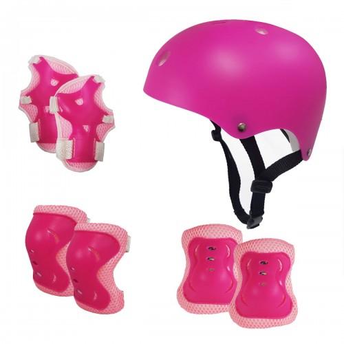Kask Dla Dziecka Ochraniacze Na Rolki Rower Różowy Zabawki Z Pasją